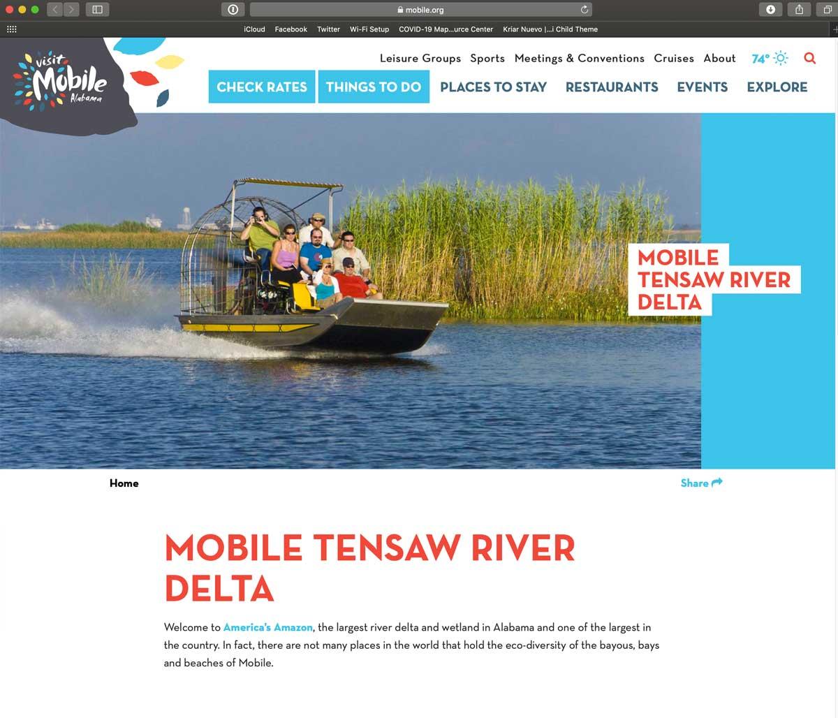 Mobile Tensaw River Delta
