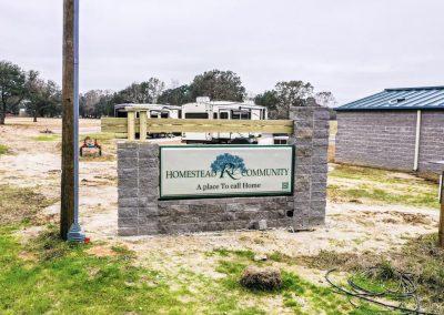 Homestead RV Park Entrance